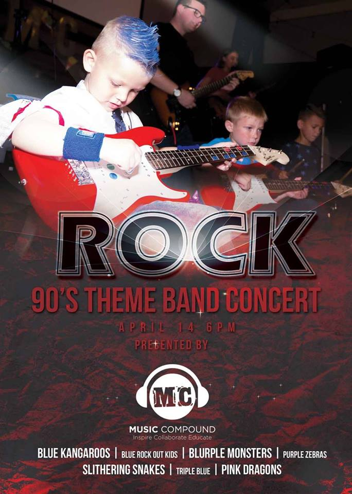 Rock 90s Theme Band Concert - Music Compound Sarasota
